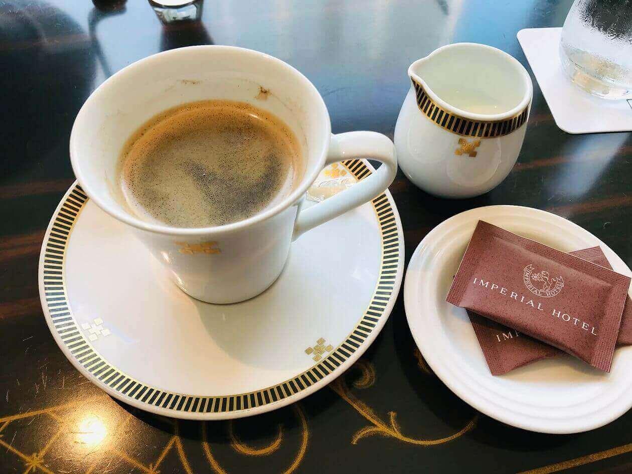 帝国ホテルのコーヒー