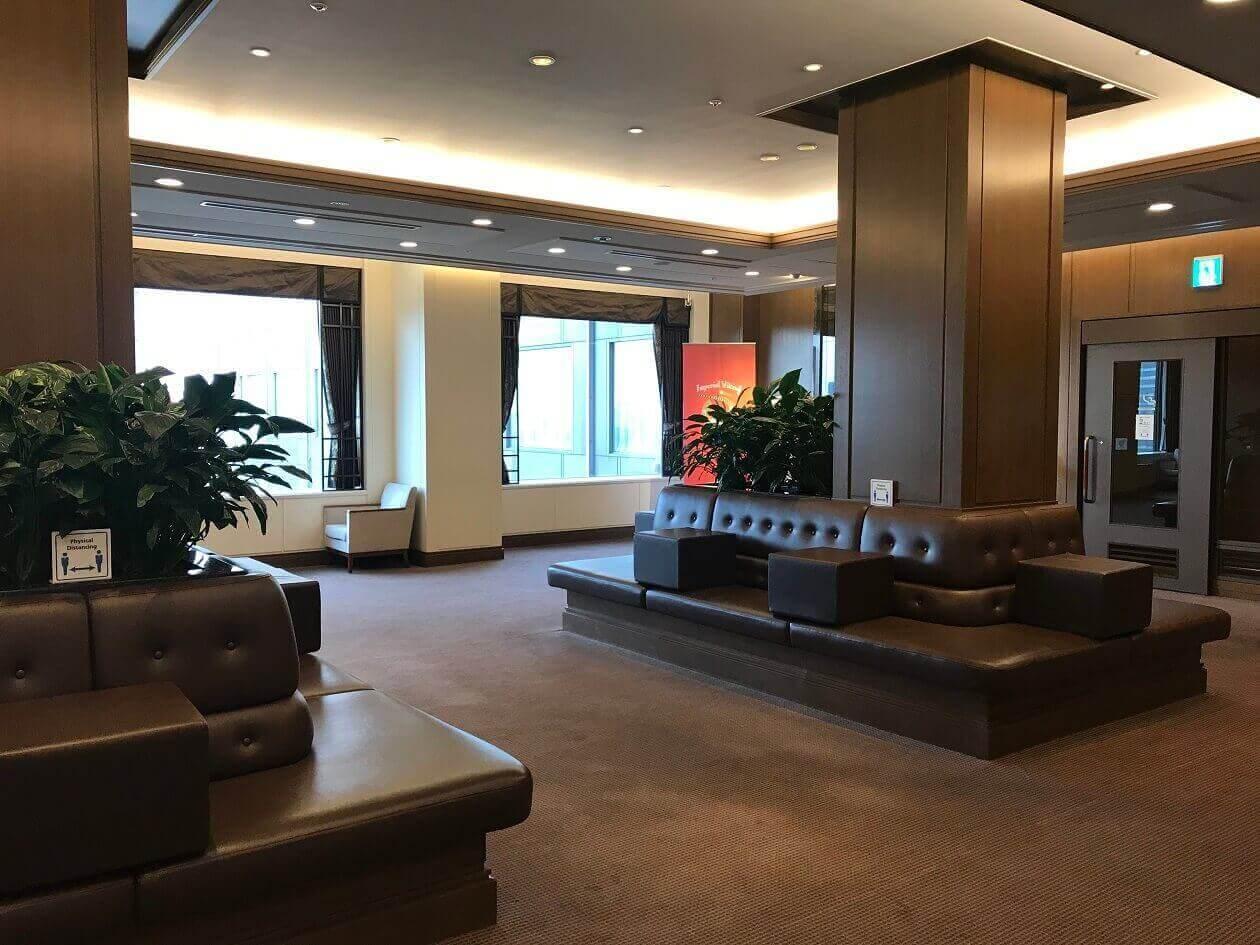 帝国ホテルのラウンジアクア前の待合室