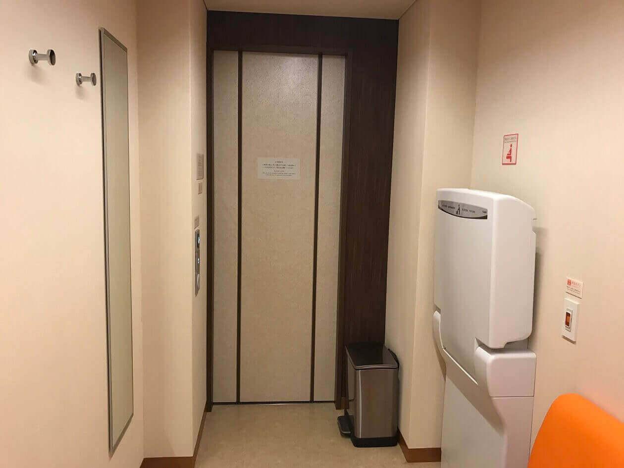 帝国ホテルの授乳室(おむつ替えシート)