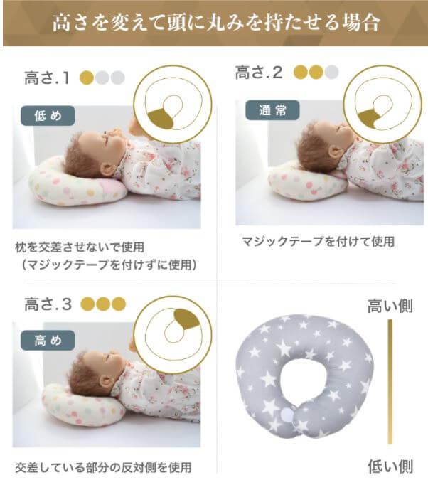 エスメラルダのドーナツ枕(高さを変えられる)