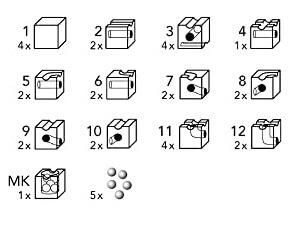 キュボロベーシスのブロック種類